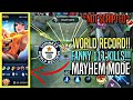Gambar cover WORLD RECORD!! Fanny 111 KILLS  in MAYHEM MODE!! | Mobile Legends