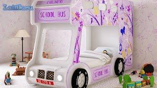 видео Детская кровать-автобус