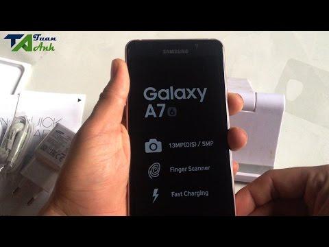 Mở hộp Samsung galaxy A7 2016 Chính hãng mua trên Lazada giá 6.190.000đ