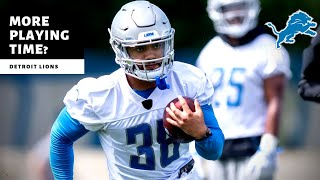 Lions NEW Number 2 Running Back? More Playing Time?! Detroit Lions Talk