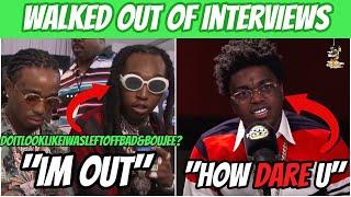Download lagu RAPPERS WALKING OUT OF INTERVIEWS! (Lil Uzi Vert, Takeoff, Kodak Black & MORE!)