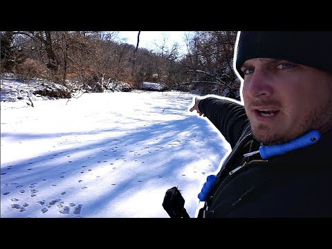Ice Fishing A HIDDEN POND In The Woods!!