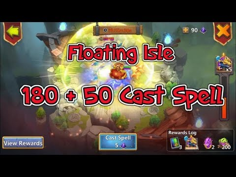 Opening Floating Isle 230 Cast Spell Castle Clash