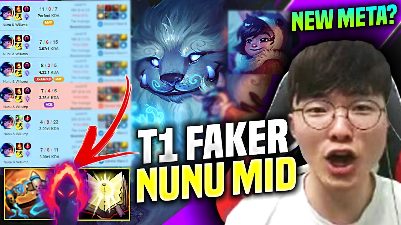 FAKER NEW NUNU MID PICK? 🔥25 MEJAI'S STACKS!🔥 - T1 Faker SoloQ Highlights Korea Patch 10.13