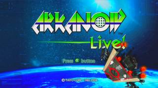 Arkanoid Live! Title Screen (Xbox 360)