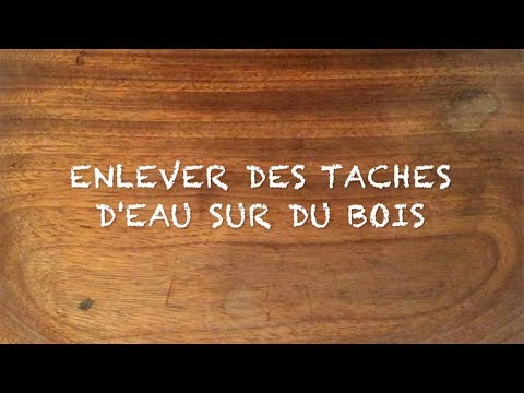 enlever des taches d 39 eau sur bois youtube. Black Bedroom Furniture Sets. Home Design Ideas