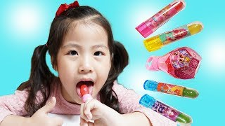 엄마가 사탕을 몰래먹어요!! 서은이의 시크릿쥬쥬 사탕 립스틱 반지 화장대 Ring and Lipstick Candy