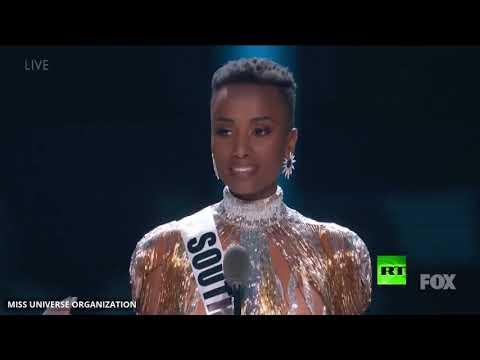 حسناء جنوب إفريقيا تفوز بمسابقة ملكة جمال الكون  - 10:59-2019 / 12 / 9