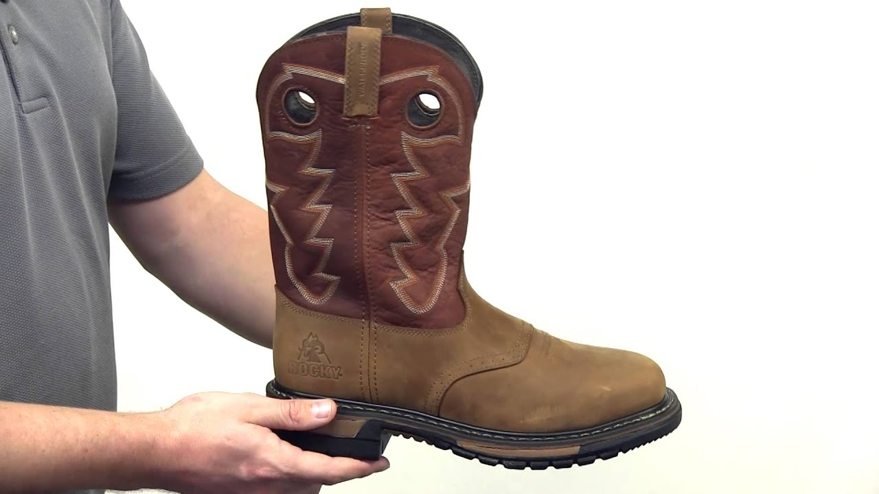 Rocky Original Ride Steel Toe Waterproof Western Boot Style ...
