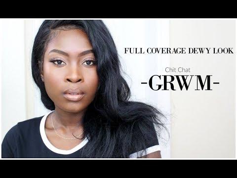 GRWM - FULL COVERAGE DEWY LOOK - GETTING MY LIFE.    TGIF EP.1