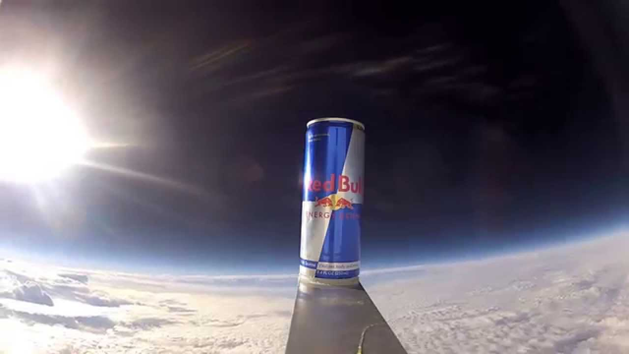 red bull can in space youtube