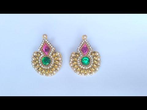 How To Make Designer Earrings // How To Make Paper earrings at ...