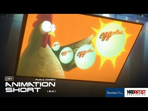 """2D Animated Short Film """"EGGCELENT"""" Hilarious Chicken Animation by Martin Sokol & Sheridan College"""