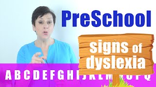 Signs of Dyslexia in Preschool -  FREE DYSLEXIA TEST