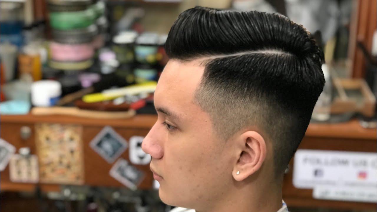 Kiểu Tóc Phổ Biến Undercut Công Sở 2019 Trên nền Tóc Dày và Cứng || Long BarberShop
