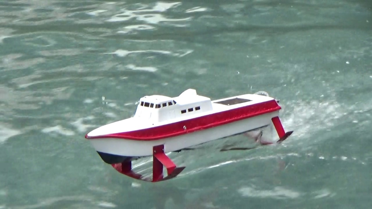 Rc boat hydrofoil pt50 16 1 2017 - YouTube