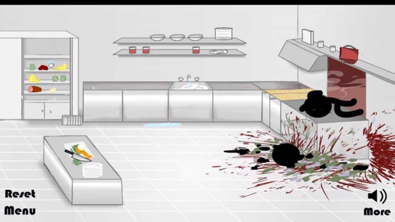 stickman kitchen death : solved android - YouTube