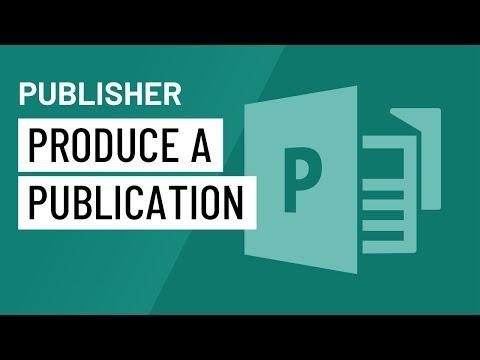 Publisher 2010: Producing a Publication