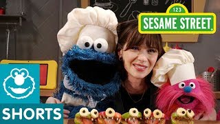 Sesame Street: Make Monster Faces with Zooey Deschanel! | Cookie Monster's Foodie Truck