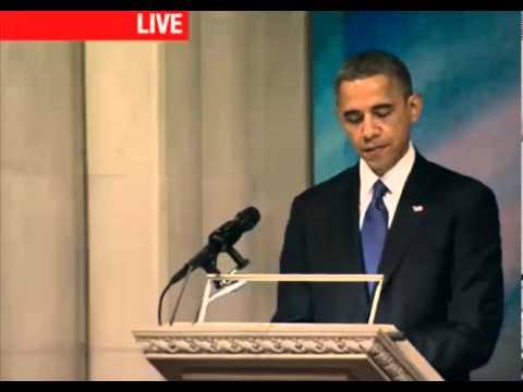 President Obama speaks at Senator Daniel Inouye Funeral Memorial Service in Hawaii