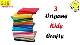 3 Easy Kids craft ideas with paper | 5 - minute paper crafts | Useful paper crafts for kids |origami
