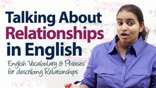 Repeat youtube video English Vocabulary & Phrases  for describing relationships - Free English lesson