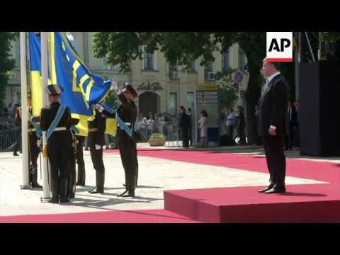 Petro Poroshenko's inauguration ceremony in Sophia Square