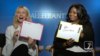 The Divergent Series Allegiant Interview w/ Naomi Watts and Octavia Spencer