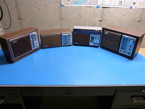 Sony Table Radio Comparison - ICF-9740W ICF-9580W ICF-9650W ICF-9540W