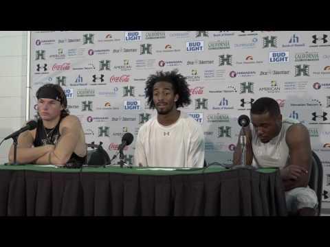 Hawaii Football Post Game Press Conference (Brown, Kemp, Harris) vs. UNLV 10-15-16