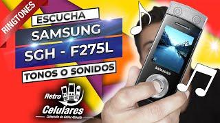 Recuerda los SONIDOS o TONOS del SAMSUNG SGH-F275L   Retro Celulares 4k