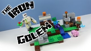 LEGO Minecraft The Iron Golem Set 21123 Build and Review
