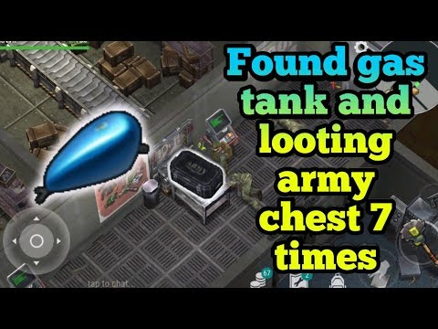 Found gas tank + Looting army chest 7 times | Last day on earth : survival