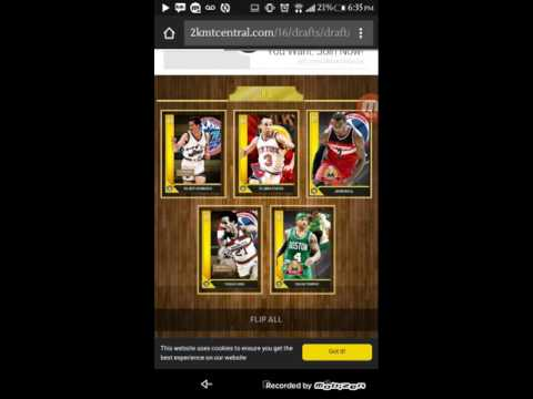 2KMT CENTRAL DRAFT DIAMOND PULL OMG!!! PART 1 NBA2K16