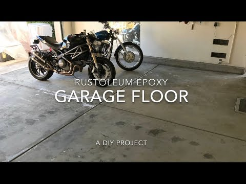 DIY Garage Floor Epoxy (before and after)