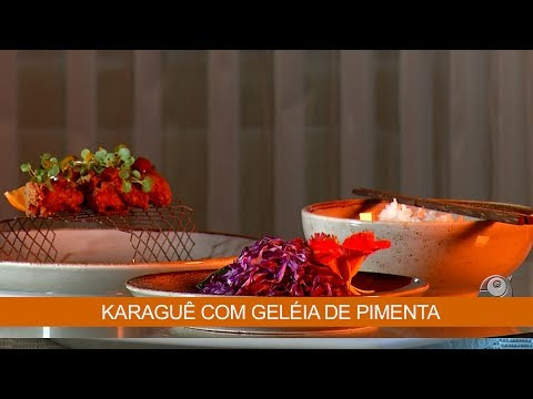 KARAGUÊ COM GELÉIA DE PIMENTA
