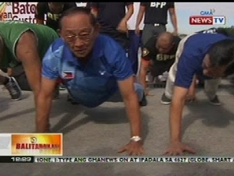 BT: Ex-Pres. Fidel V. Ramos, naghamon ng push-up sa Nat'l Kidney Institute