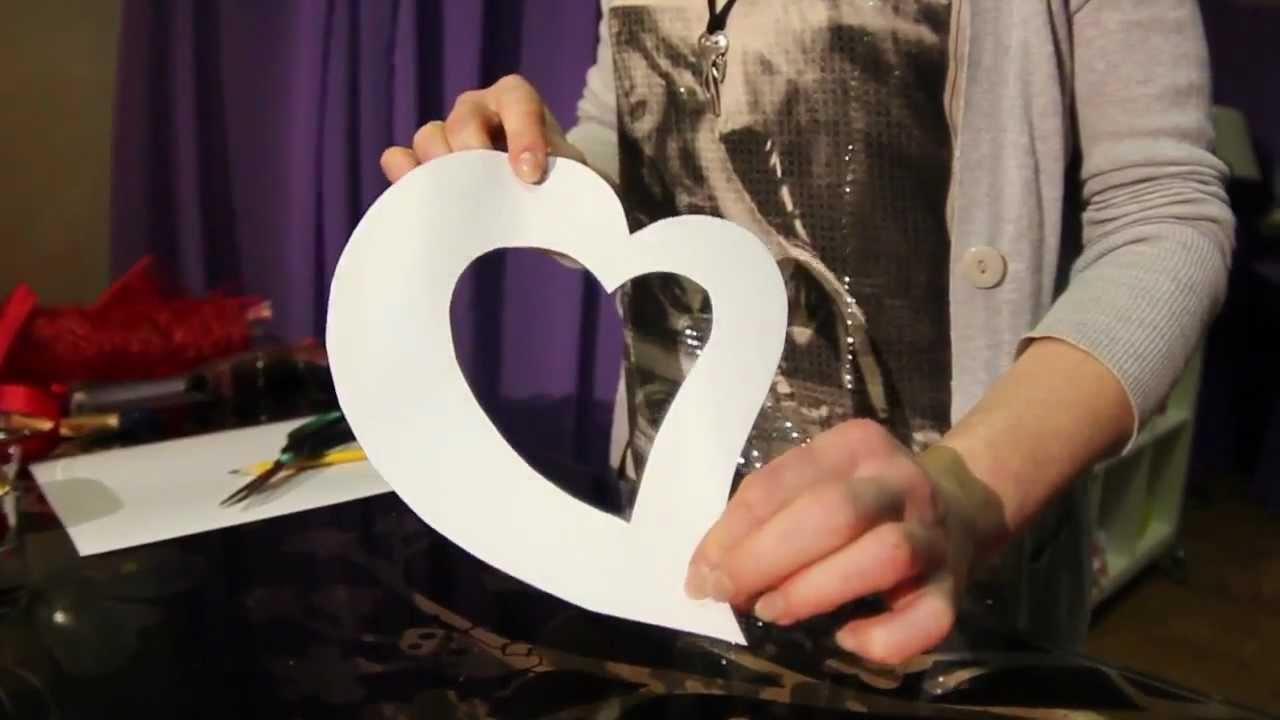 Фоторамка в виде сердца своими руками