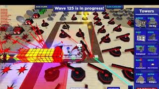 Playing cube defense (roblox) wave 125+