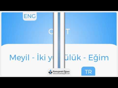 Cant Nedir? Cant İngilizce Türkçe Anlamı Ne Demek? Telaffuzu Nasıl Okunur? Çeviri Sözlük