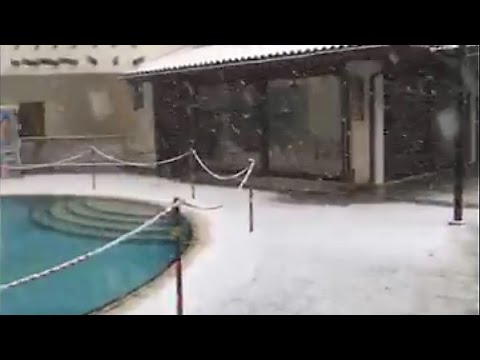Snowfall in Cyprus - jan. 2017