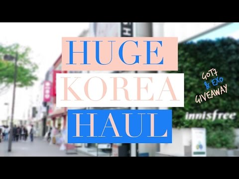 Korea (Seoul) Haul ♥  GOT7 & EXO GIVEAWAY (Closed)