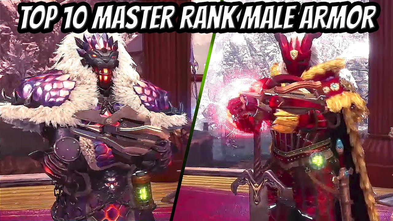 Top 10 Master Rank Male Armor Designs Mhw Iceborne Youtube