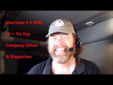 New CDL 18 Wheel Truck Driver Interview # 6 Mike Dispatcher Insider Info