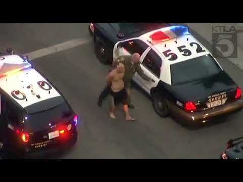 Dangerous police pursuit in the San Fernando Valley.