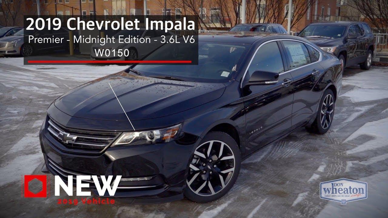 2019 Chevrolet Impala PREMIER - MIDNIGHT EDITION - W0150 ...