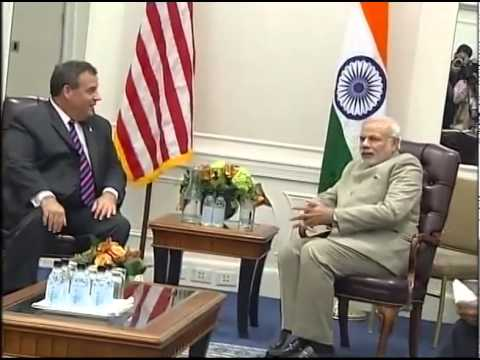 PM Modi meets Governor of New Jersey Chris Christie