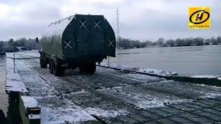 Понтонный мост через Припять в Житковичском районе открыт