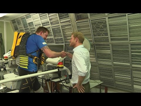 Thumbnail: Prince Harry surprises double amputee training for endurance race