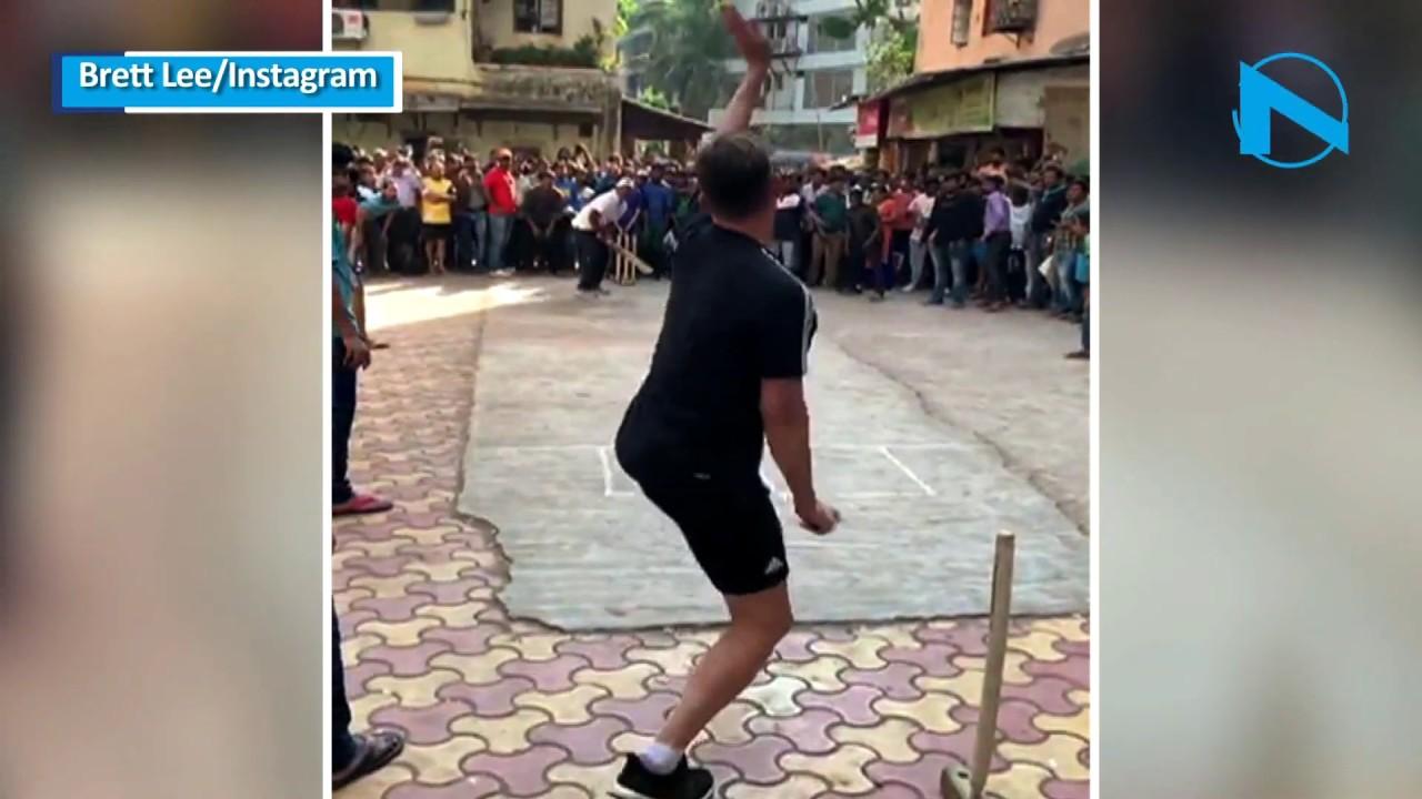 Gully Cricket: Brett Lee bowls bouncer to Brain Lara in streets of Mumbai